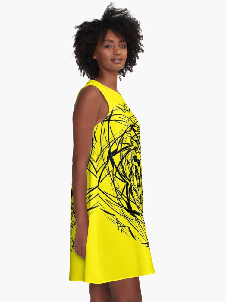 Alternate view of #pattern, #repeat, #abstract, #design, illustration, art, geometry, circle A-Line Dress