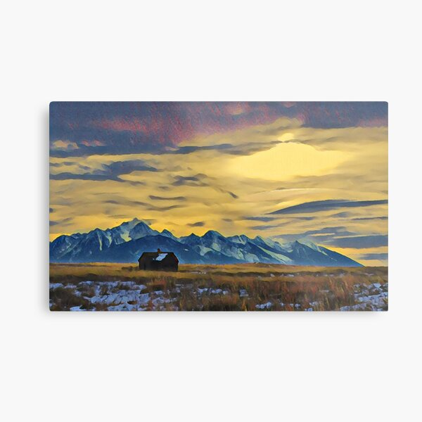 Mission Mountains Shed  Metal Print