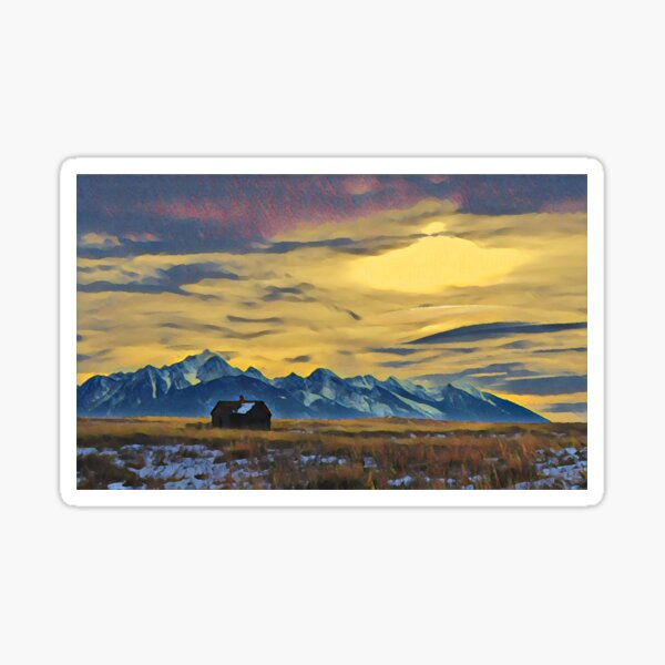 Mission Mountains Shed  Sticker