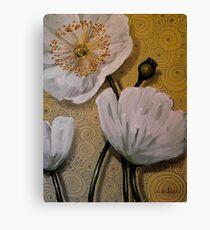 White Iceland Poppies Canvas Print