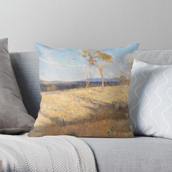 Golden Summer by Arthur Streeton Throw Pillow