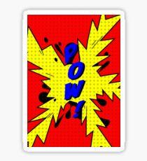 Comic Pow Sticker