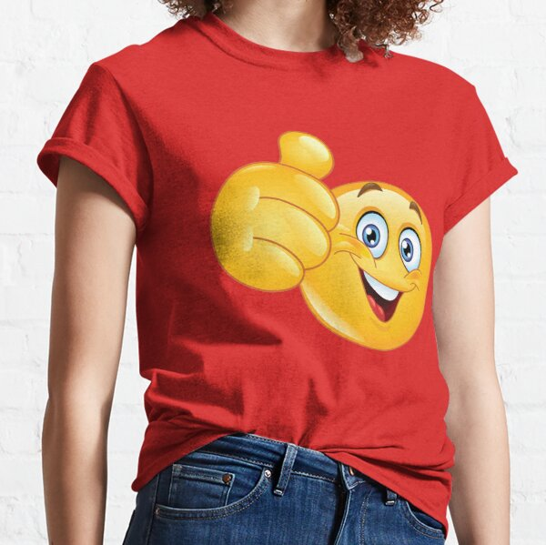 THUMBS UP SMILEY FACE 1 Classic T-Shirt