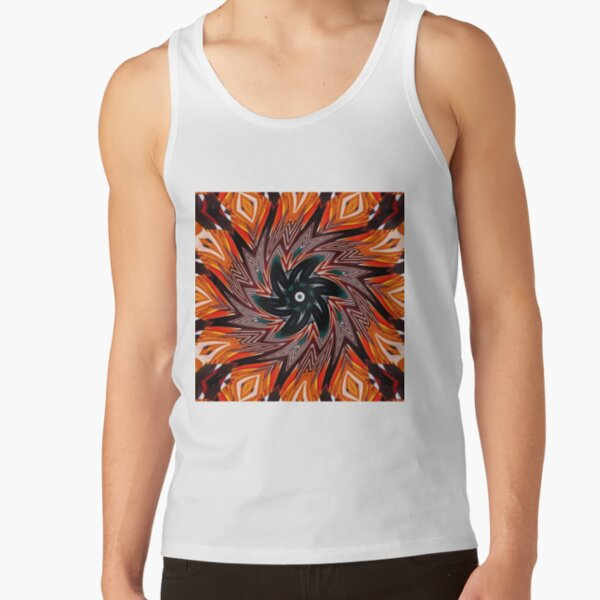 #pattern, #repeat, #abstract, #design, illustration, art, geometry, circle Tank Top