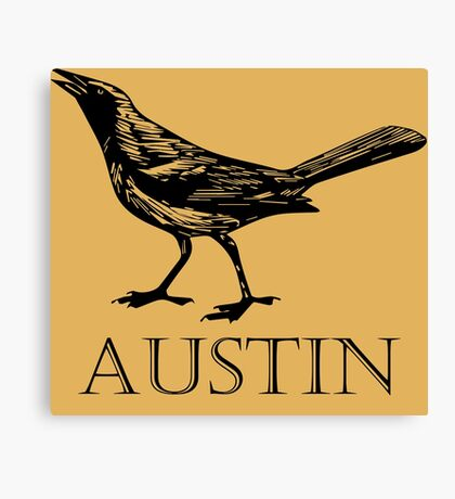 Austin Grackle Canvas Print