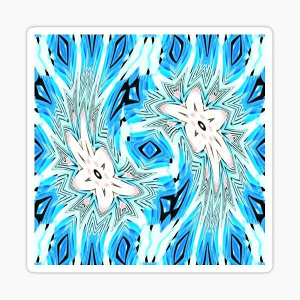 #pattern, #repeat, #abstract, #design, illustration, art, geometry, circle Sticker