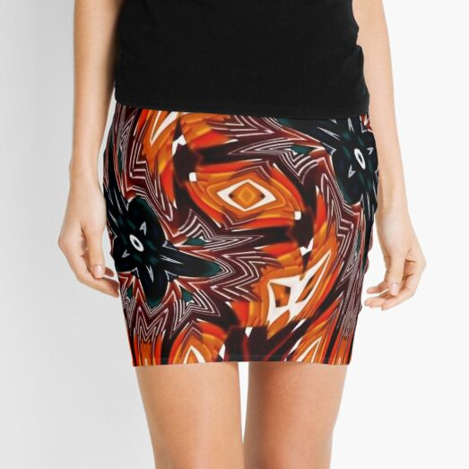 #pattern, #repeat, #abstract, #design, illustration, art, geometry, circle Mini Skirt