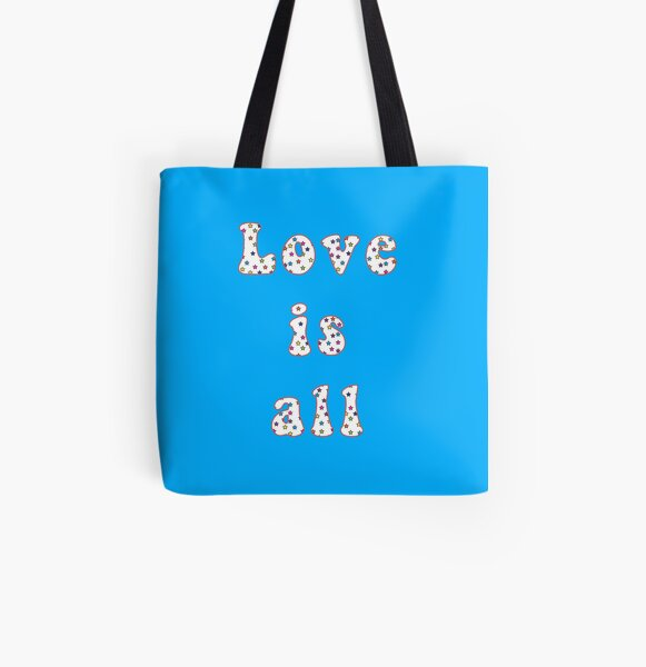 Love is all Tote bag doublé