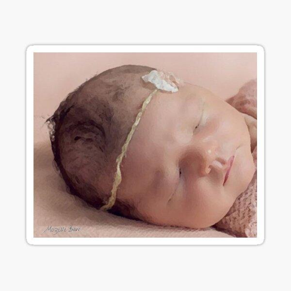 Peaceful Sleeping Baby Sticker