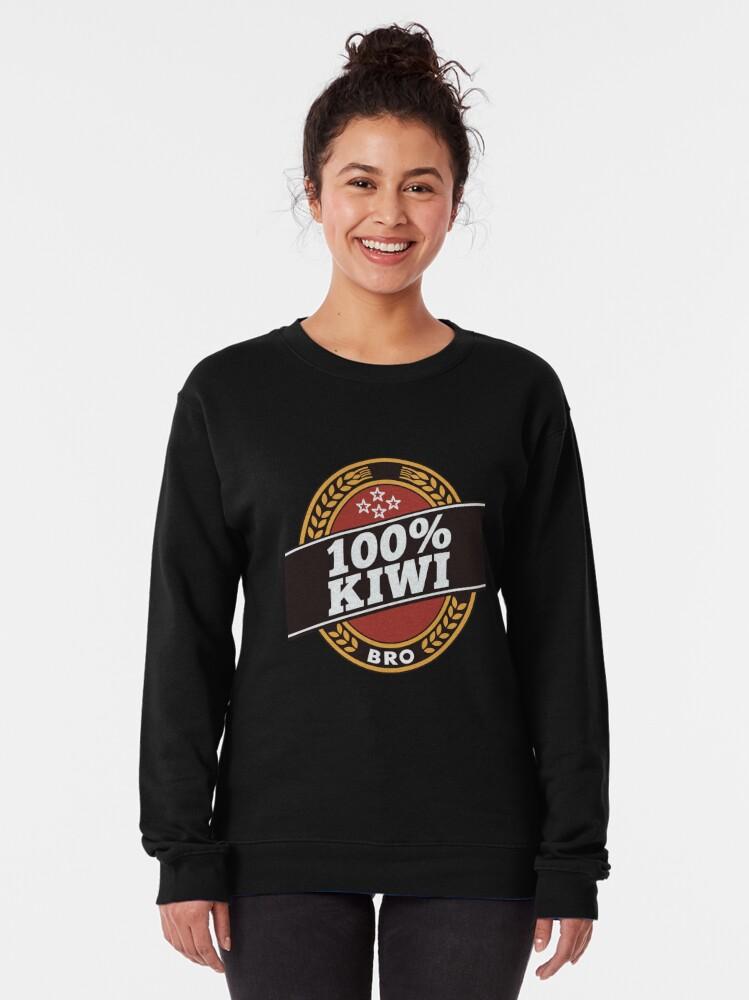 Alternate view of Double Brown 100% Kiwi Pullover Sweatshirt