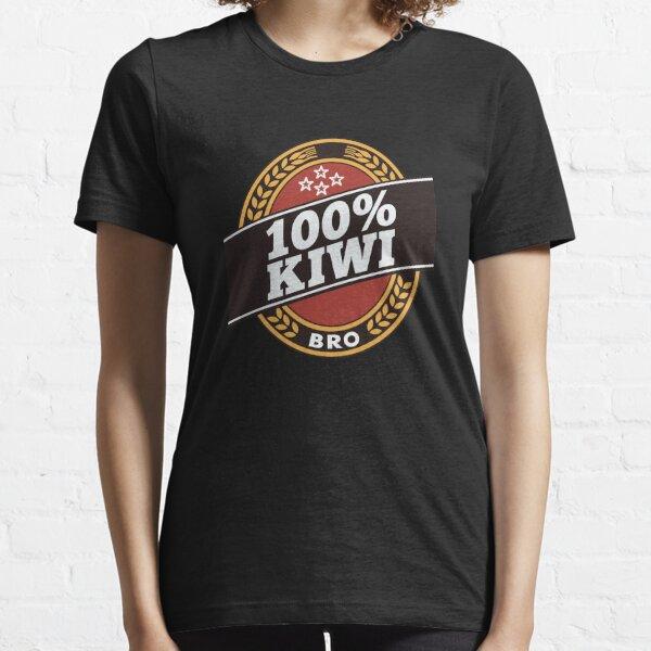 Double Brown 100% Kiwi Essential T-Shirt