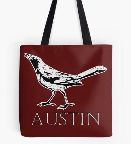 Austin Grackle - Black and White Tote Bag