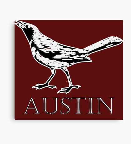 Austin Grackle - Black and White Canvas Print