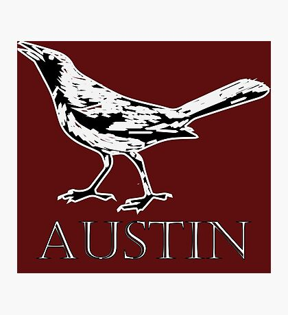 Austin Grackle - Black and White Photographic Print