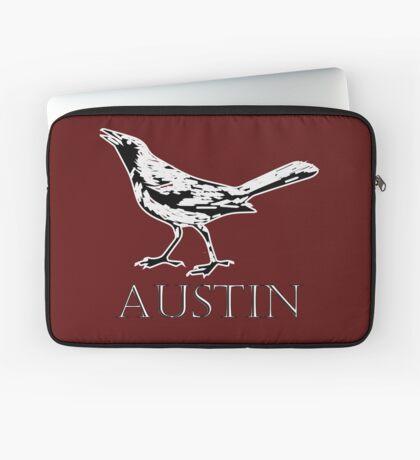 Austin Grackle - Black and White Laptop Sleeve