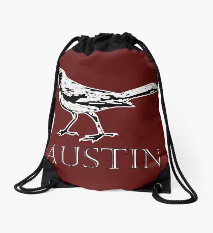 Austin Grackle - Black and White Drawstring Bag