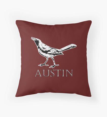 Austin Grackle - Black and White Floor Pillow