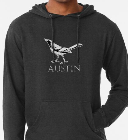Austin Grackle - Black and White Lightweight Hoodie