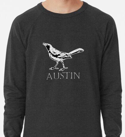 Austin Grackle - Black and White Lightweight Sweatshirt