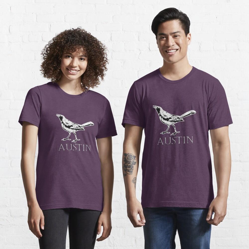 Austin Grackle - Black and White Essential T-Shirt