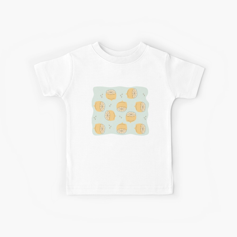 Lemon Pattern Illustration Kids T-Shirt