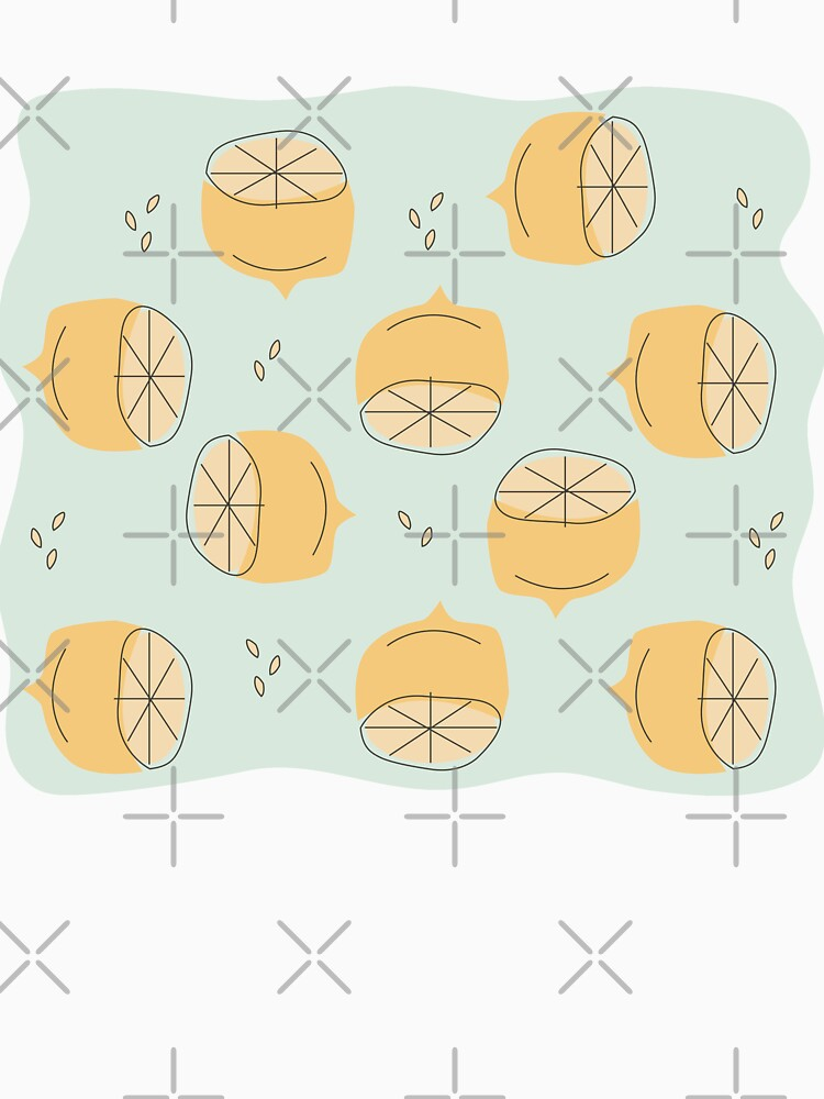 Lemon Pattern Illustration by jillianhelvey