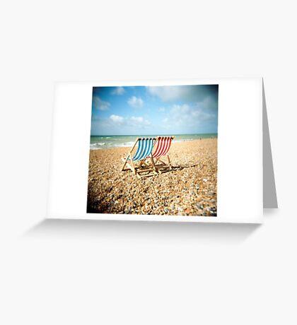 Deckchairs Greeting Card