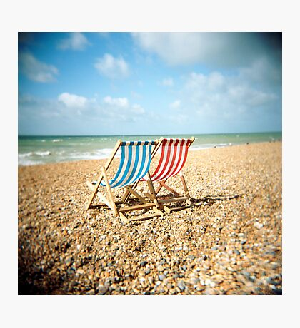 Deckchairs Photographic Print