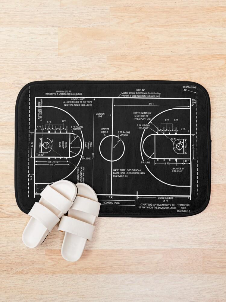 Alternate view of Basketball Court Bath Mat