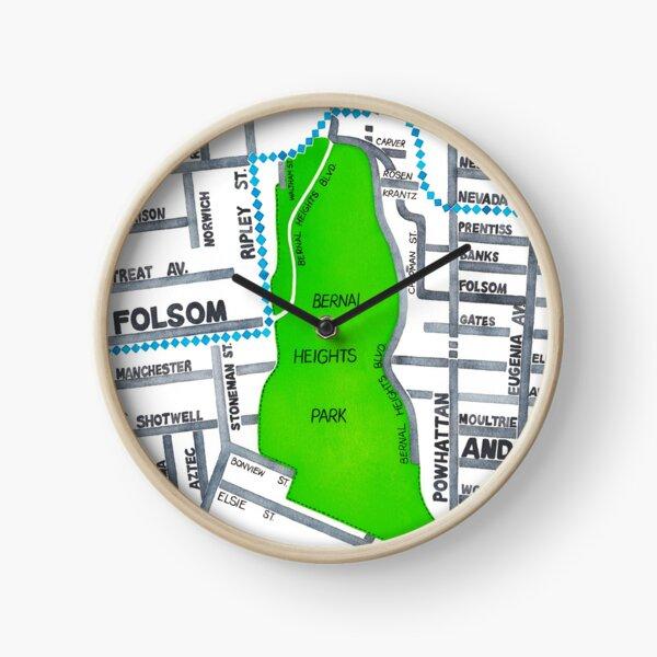 San Francisco map - Bernal Heights Clock