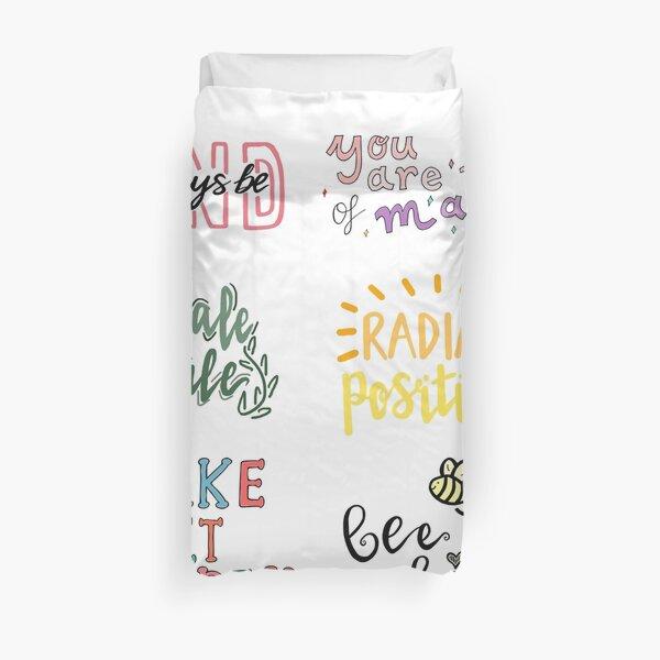 positivity sticker pack Duvet Cover