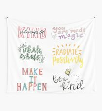 positivity sticker pack Wall Tapestry