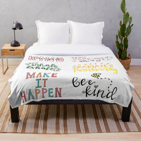 positivity sticker pack Throw Blanket