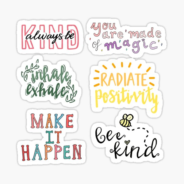 positivity sticker pack Sticker
