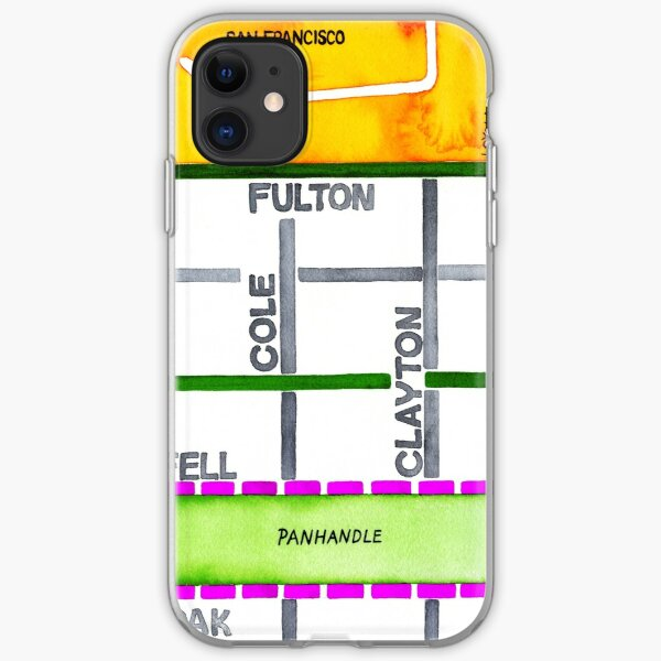 San Francisco map - NOPA iPhone Soft Case