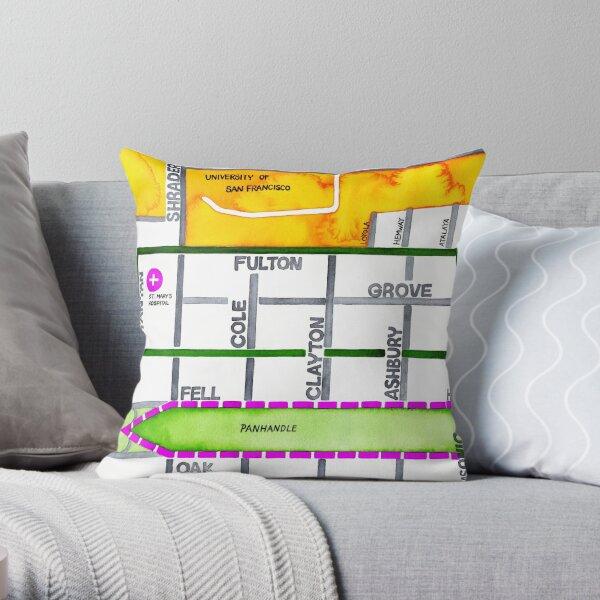 San Francisco map - NOPA Throw Pillow