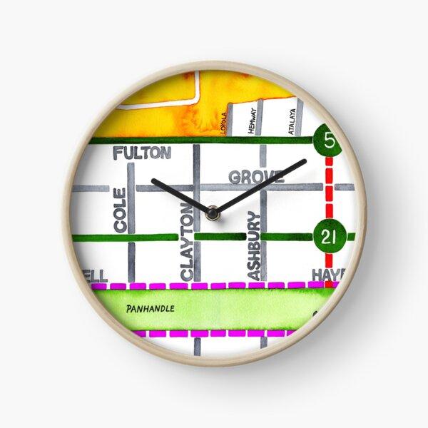 San Francisco map - NOPA Clock