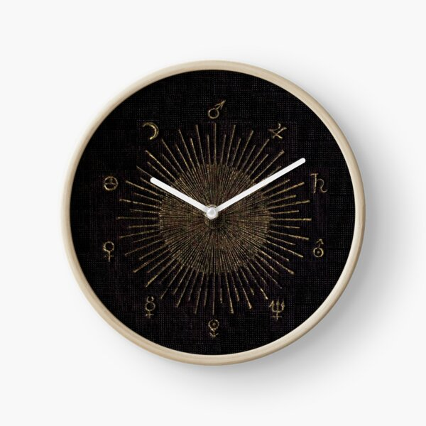 Astronomy Symbols Clock