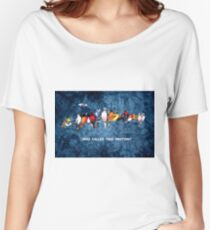 WHO CALLED THIS MEETING? Women's Relaxed Fit T-Shirt