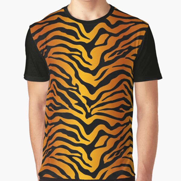 Tiger stripe print Graphic T-Shirt