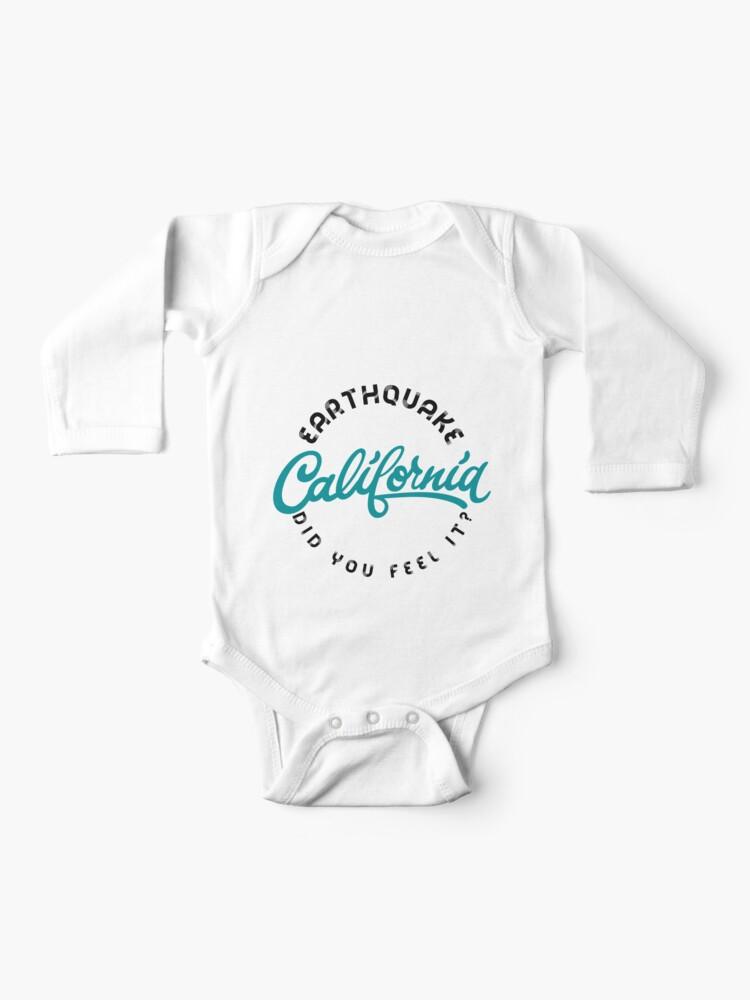 California Earthquake Baby One Piece By Cafepretzel Redbubble