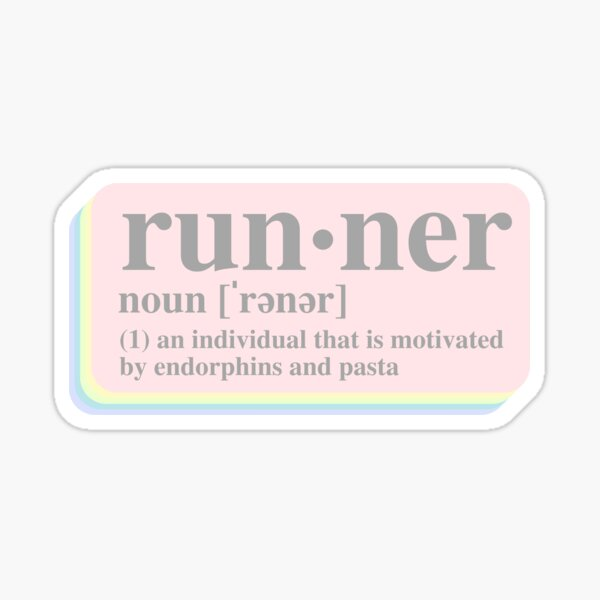 Runner Definition Sticker