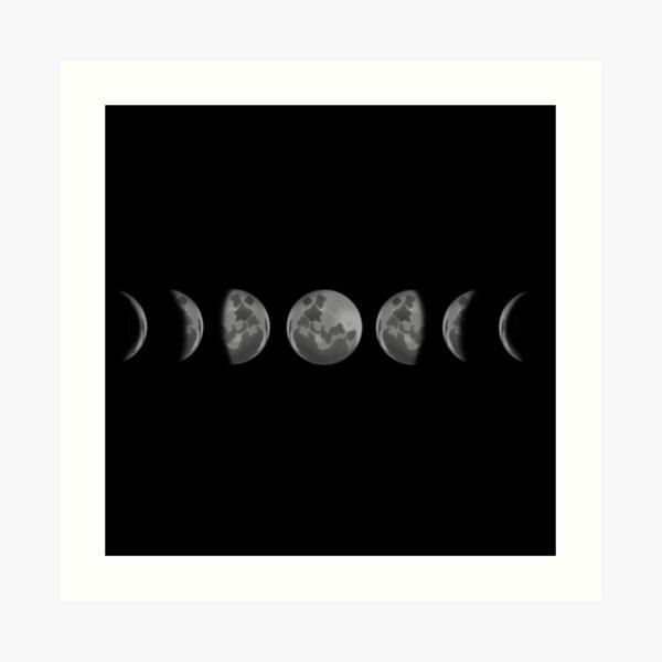 Horizontal Moonphases Art Print