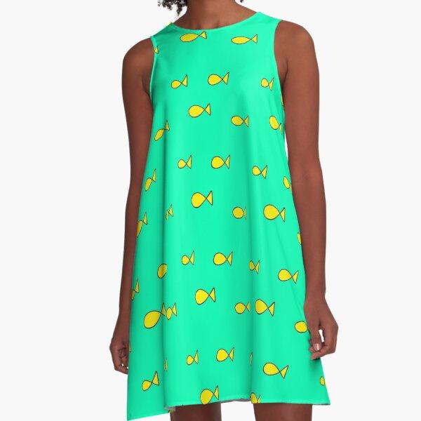 princess caroline oh fish print A-Line Dress