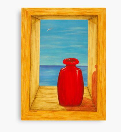 Red Vase Canvas Print