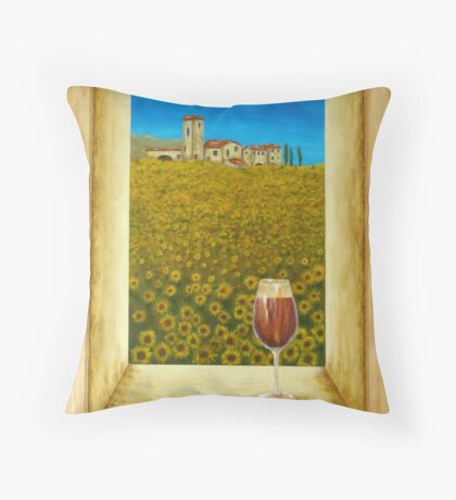 Tuscan Countryside View Throw Pillow
