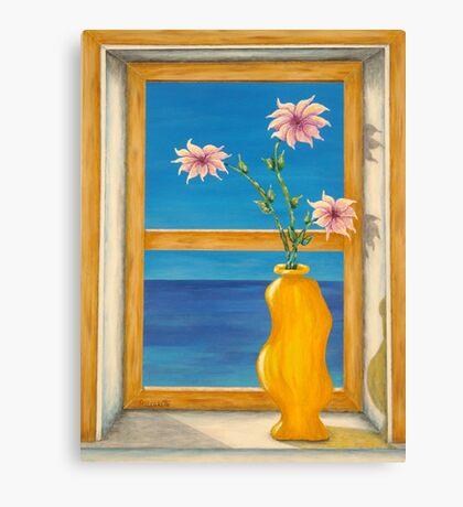 Yellow Vase Canvas Print