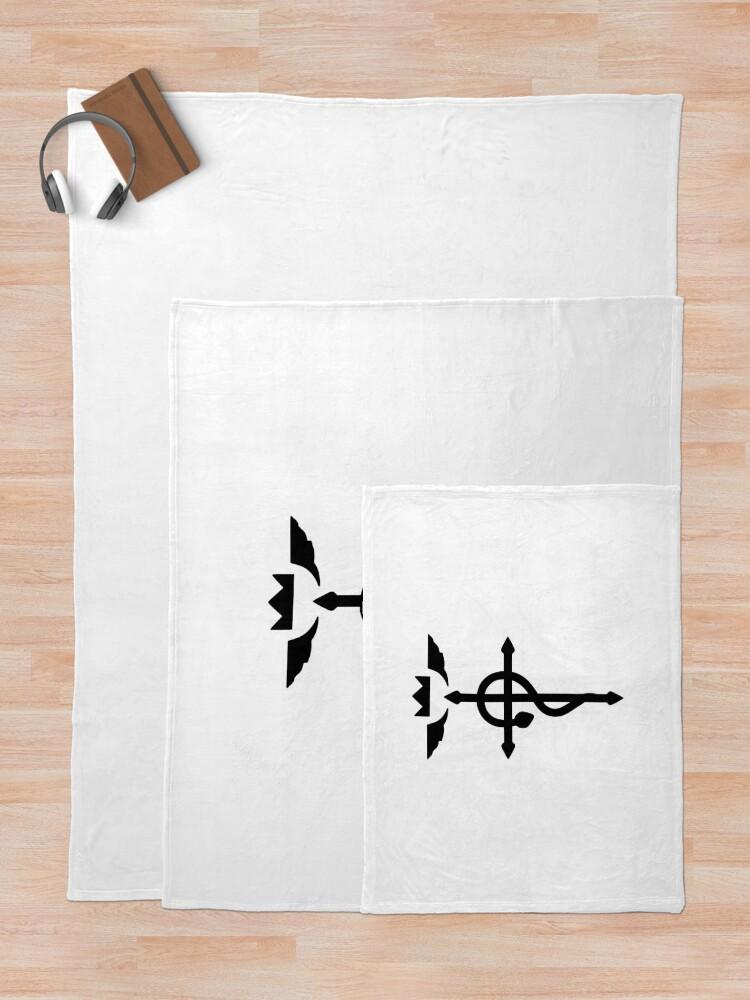 Alternate view of Fullmetal Alchemist - Flamel Insignia (Black) Throw Blanket