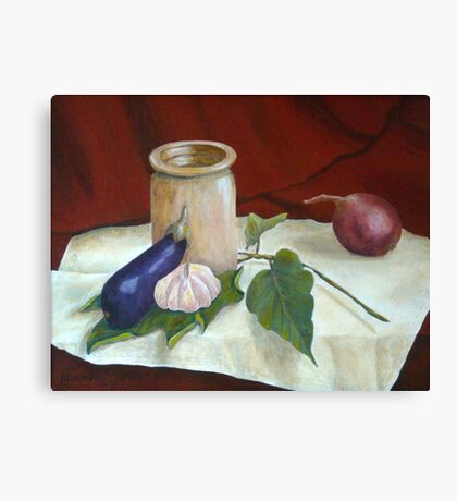 Tuscan Table Canvas Print