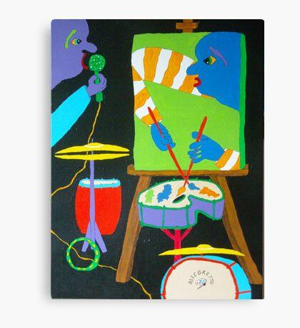 Vinny & The Van Goes 3 Canvas Print